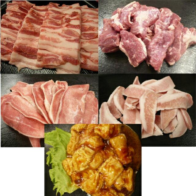 送料無料!! バーベキュー とんとんセットBBQセット 焼肉セット 肉セット お肉 肉 豚肉 焼肉 セット 詰め合わせ 豚のばら(バラ) 豚のハラミ 豚トロ 豚タン 鶏肉 豚コロ フォルモン BBQ バーベキュー 焼肉