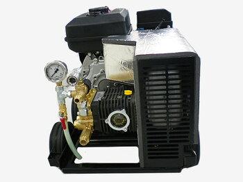 【防音なのに格安!】フルテックエンジン式簡易防音型高圧洗浄機【GE160】ホース30Mドラム付セット吐出圧力16MPa業務用