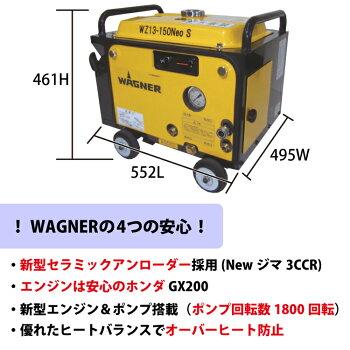 日本ワグナーエンジン式高圧洗浄機防音型【WZ13-150NEOS】標準セット