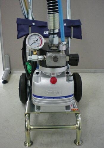 精和産業ダイヤフラム式エアレス塗装機電動エアレススーパー60DX(ホース30Mセット)ターンクリーンチップ付