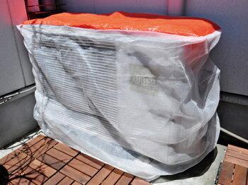 エアコン室外機養生カバー(白メッシュ)