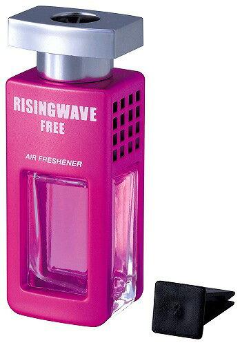 ◆激安【RISINGWAVE】セイワ◆ライジングウェーブ クルマ用芳香剤 エアコン取り付け型(フリーサンセットピンク)7ml◆