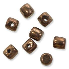 チェコビーズ ミノスビーズ 2.5×3mm 2.5g入りダークブロンズ MNS253-23980-14415