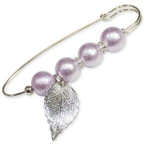 Cotton Pearl Accessorykit コットンパールのピンブローチSBK-87 タイプA/パープル