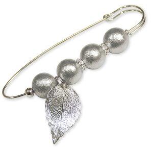 Cotton Pearl Accessorykit コットンパールのピンブローチSBK-89 タイプA/グレー