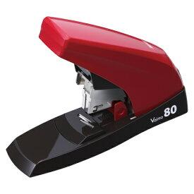 マックス 中型ホッチキス Vaimo80 (バイモ80) HD-11UFL 【フラットクリンチ】【使用針: 11号 (No.11-1M、No.11-10mm)】【とじ枚数: 2〜80枚】【カラー: レッド】