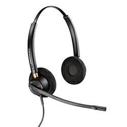 プラントロニクス コード付ヘッドセット HW520 【両耳タイプ】【ウルトラノイズキャンセルマイク】