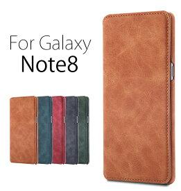 Galaxy Note8ケース 手帳型 Galaxy Note8カバー 横開き ギャラクシーノート8カバー 二つ折り Galaxy Note8手帳ケース Galaxy Note8専用ケース 軽量 薄型 Galaxy Note8カバー マグネットなし ギャラクシーノート8ケース SC-01K SCV37ケース手帳 シンプル