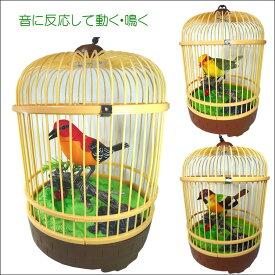 鳥 音センサー 鳴く鳥 動く鳥 インテリア 音が出る玩具 おもちゃ 置物 鳥さえずり プレゼント ハミングバード 癒し ※動画有り