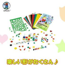 ブントパピア 型抜き紙セット BU3015699 知育玩具 工作 小学生 折り紙 工作 お絵描き ぬりえ