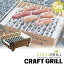 バーベキューグリル カサスグリル クラフトグリル 5個セット CASUS 使い捨て BBQ 【あす楽対応】