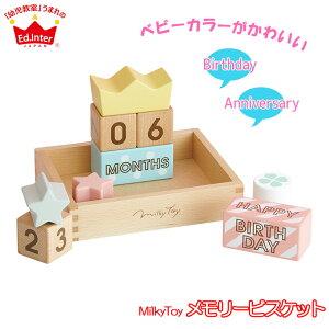 エドインター メモリービスケット 4941746819210 知育玩具 おもちゃ 0歳 1歳 2歳 赤ちゃん ベビー 出産祝い 木製 知育 女の子 男の子木のおもちゃ ハーフバースデー 飾り 誕生日 積み木 ブロック 0