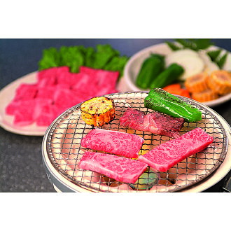 Part BBQ set (the assorted gourmet gifts gift set midyear gift year-end present) of three kinds of black color Japanese beef