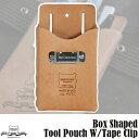 ヘリテージレザー Heritage Leather Box Shaped Tool Pouch W-Tape Clip ツールポーチ HL407C