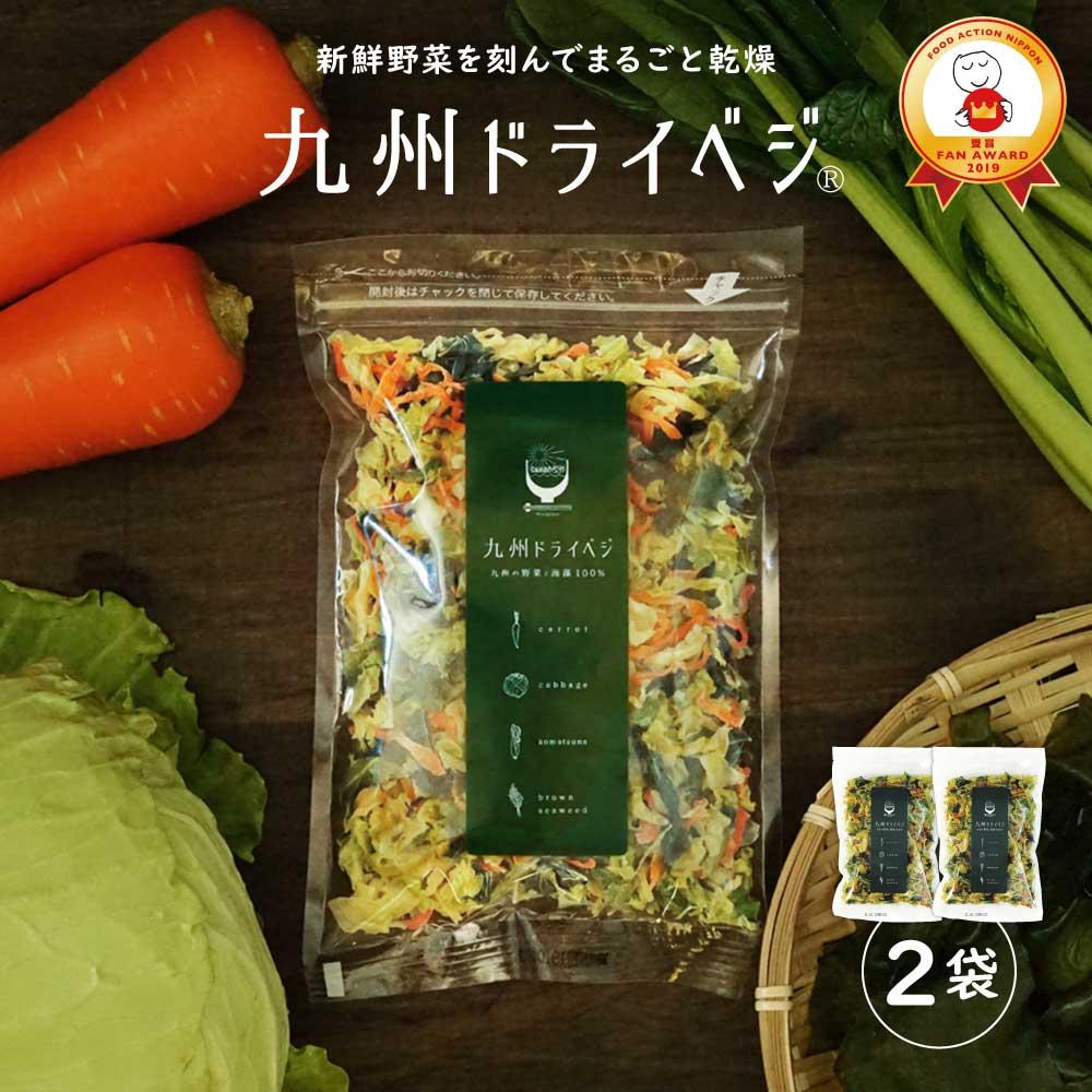 送料無料 国産 乾燥野菜 ミックス 九州ドライベジ100g×2袋(お湯で戻して約1kg)ゆうパケット(ポスト投函)・代引不可 <出荷目安:ご注文後1〜2週間>