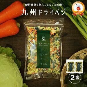 送料無料 国産 乾燥野菜 ミックス 九州ドライベジ100g×2袋(お湯で戻して約1kg)ゆうパケット(ポスト投函)・代引不可 【出荷目安:ご注文後1〜2週間】