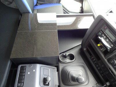 いすゞ ギガ 新型ギガ ファイブスター ギガ センターコンソール B コンソール テーブル 収納 内装 棚 板 フロントテーブル サイド サイドテーブル トラック