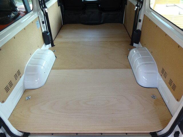 トヨタ 200系 ハイエース DX 標準/ロング用 フロア パネル【フルサイズパネル/5ドア・4ドア選択】セカンドシートなし フロアキット 床 床キット