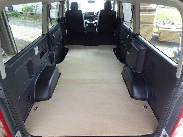 トヨタ 200系 ハイエース スーパーGL ロング・標準ボディ フロア パネル 【フルサイズ セカンドシートなし】※オプション追加でセカンドシートありにも対応。フロアキット 床パネル 収納