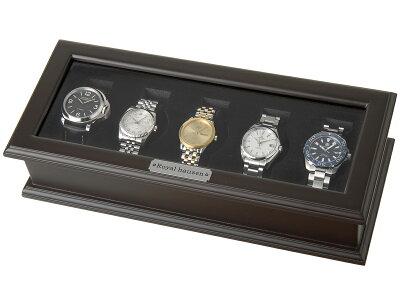 時計収納ケース/腕時計時計コレクションケース/ディスプレイケース/5本用/BOX/時計雑貨