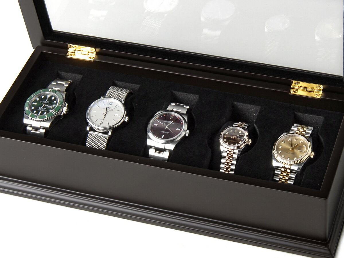 ROYAL HAUSEN ロイヤルハウゼン 時計収納ケース 腕時計時計コレクションケース ディスプレイケース 5本用 BOX 時計雑貨