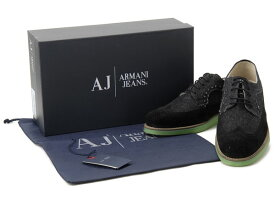 アルマーニ ジーンズ ARMANI JEANS カジュアルシューズ #40 メンズ靴 スニーカー ブラック 新品 【送料無料】