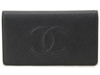 香奈尔CHANEL长钱包A48651X0101994305鱼子酱皮肤黑色