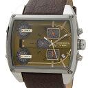 決算原価割れセール ディーゼル DIESEL 腕時計 DZ7327 MEGA TANK メガタンク 3ヵ国時計表示 ブラウン メンズ ウォッチ