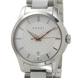 ポイント5倍(3/4-3/11) グッチ GUCCI 腕時計 レディース YA126523 G-タイムレス クォーツ シルバー 新品