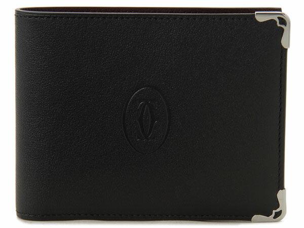 カルティエ Cartier 二つ折り財布 L3001369 マスト ブラック DEAL