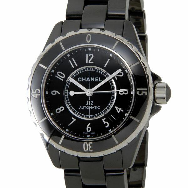 シャネル CHANEL 腕時計 メンズ H0685 J12 38mm オートマチック セラミック ブラック レディース 男女兼用