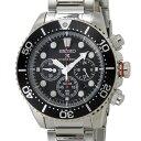 セイコー SEIKO SSC015P1 ダイバーズ ソーラー クロノグラフ クォーツ ブラック×シルバー メンズ腕時計 セイコーウオ…
