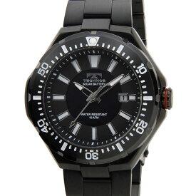 テクノス TECHNOS T2415BB ソーラーバッテリー デイト 10気圧防水 ブラック メンズ 腕時計 新品