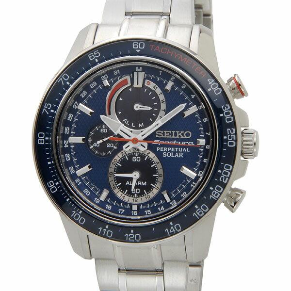 セイコー SEIKO ソーラー クロノグラフ SSC355P1 ソーラーパワーウォッチ ネイビー メンズ 腕時計