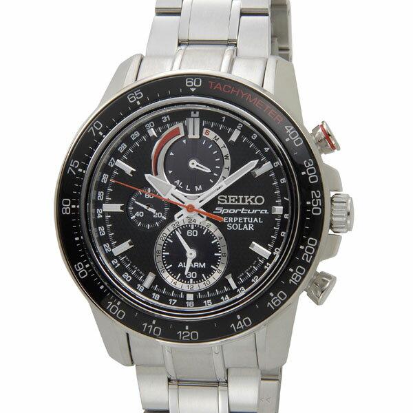 セイコー SEIKO ソーラー クロノグラフ SSC357P1 ソーラーパワーウォッチ ブラック メンズ 腕時計