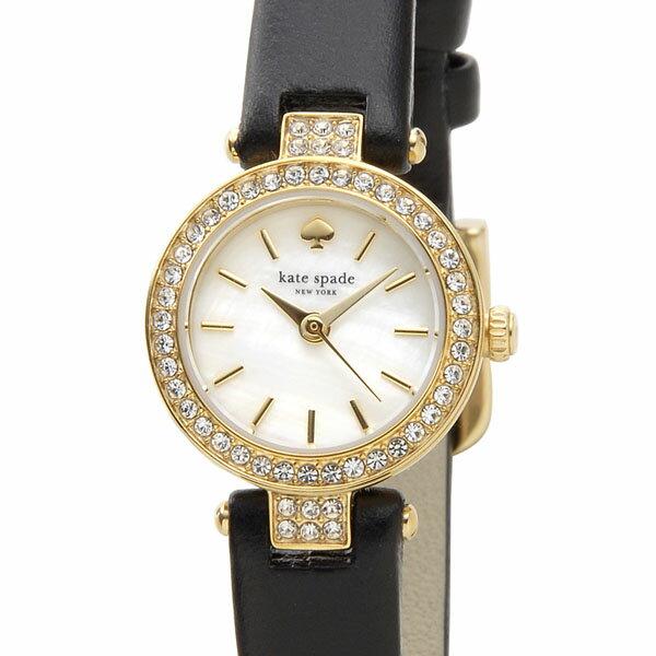 ケイトスペード kate spade 時計 1YRU0720 タイニーメトロ ホワイトシェル×ブラック革ベルト レディース 腕時計