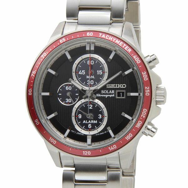 セイコー SEIKO SSC433P1 SOLAR ソーラー クロノグラフ ブラック×レッド メンズ 腕時計