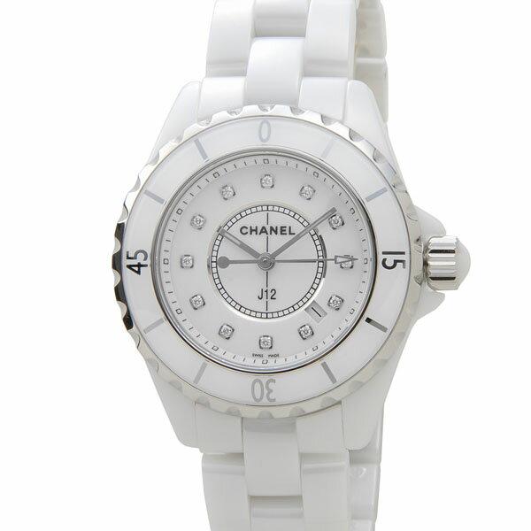 楽天スーパーSALE! シャネル CHANEL 時計 H1625 セラミック 12Pダイヤ ホワイト レディース 腕時計