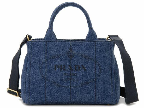 プラダ PRADA トートバッグ 1BG439 AJ6 F0008 CANAPA カナパ 2WAY ショルダーバッグ デニム 新品
