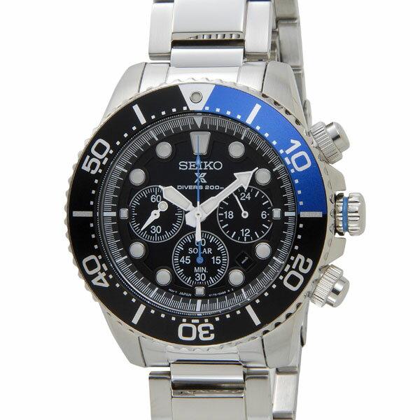 セイコー SEIKO 腕時計 ソーラークロノ クォーツ メンズ ウォッチ SSC017P1