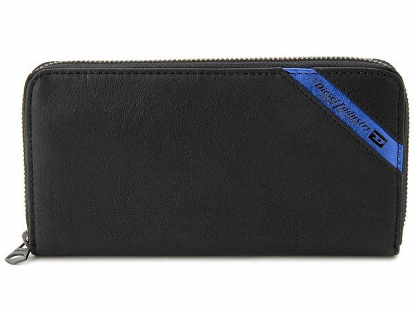クリアランスセール DIESEL ディーゼル 長財布 X03609 P1221 H6169 ブラック×ブルー