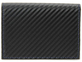 モンテスピガ monte SPIGA 名刺入れ カードケース ブラック メンズ MOSQS618ABKBL カーボンレザー型押し