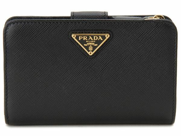 PRADA プラダ 長財布 1ML225 QHH F0002 SAFFIANO サフィアーノ 二つ折り ミディアム財布 ブラック