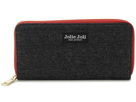Jolie Joli ジョリージョリ ラウンドファスナー長財布 2017900-003 デニム レディース 財布 ブラック×レッド 新品