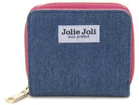 Jolie Joli ジョリージョリ 二つ折りラウンド財布 2017901-004 デニム レディース 財布 ブルー×ピンク 新品