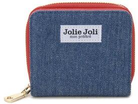 Jolie Joli ジョリージョリ 二つ折りラウンド財布 2017901-011 デニム レディース 財布 ブルー×レッド 新品