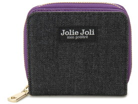 Jolie Joli ジョリージョリ 二つ折りラウンド財布 2017901-012 デニム レディース 財布 ブラック×パープル 新品