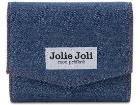 Jolie Joli ジョリージョリ コンパクト三つ折り財布 2017902-004 デニム レディース 財布 ブルー×ピンク 新品