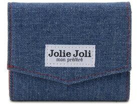 Jolie Joli ジョリージョリ コンパクト三つ折り財布 2017902-011 デニム レディース 財布 ブルー×レッド 新品