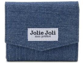 Jolie Joli ジョリージョリ コンパクト三つ折り財布 2017902-013 デニム レディース 財布 ブルー×ブルー 新品